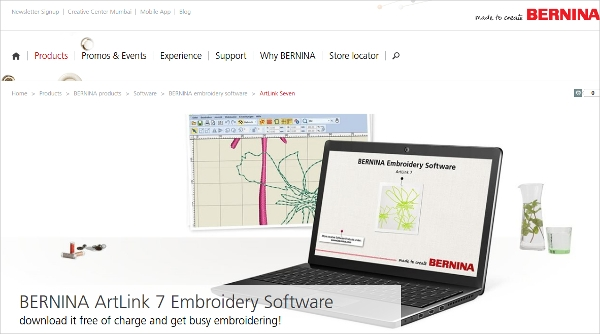 bernina artlink 7 embroidery software