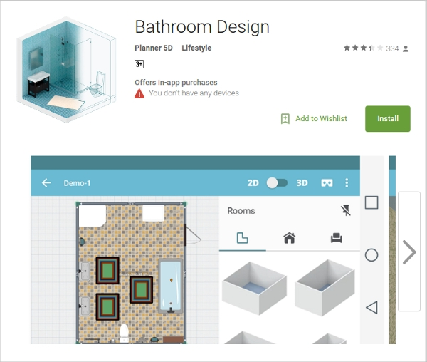 18 best bathroom design software free download for windows mac android downloadcloud Bathroom design software android