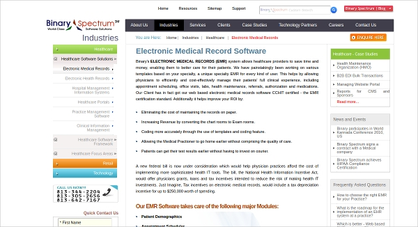 binarys electronic medical record software
