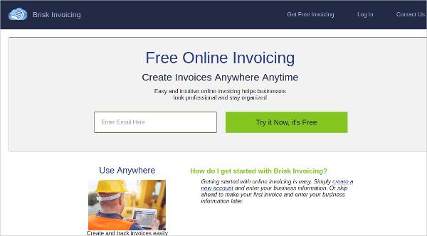 brisk invoicing