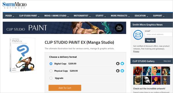 clip studio paint ex manga studio