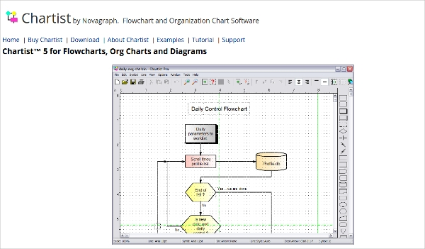 18 best free flowchart software download for windows mac android chartist ccuart Gallery