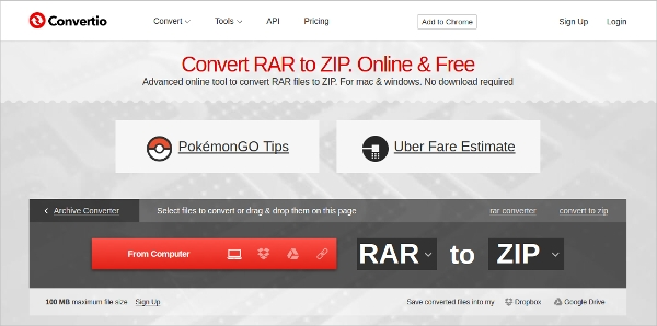 convert rar to zip1