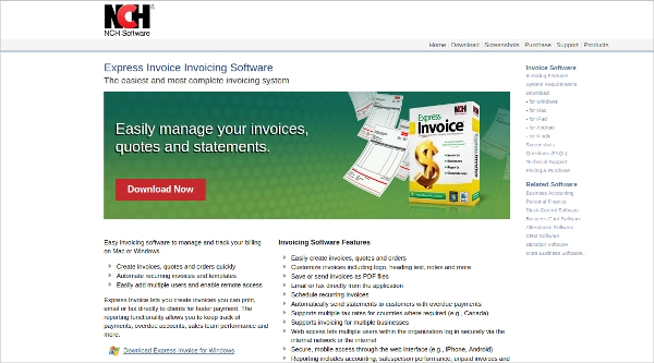 express invoice invoicing software