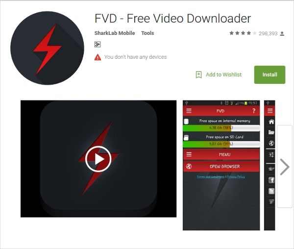 fvd free video downloader