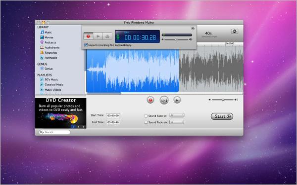 free ringtone maker for mac