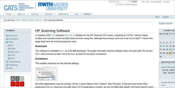 hp scanning software