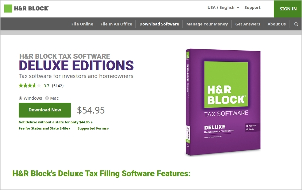 hr block tax software
