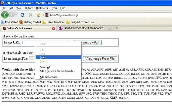 jeffreys image metadata viewer