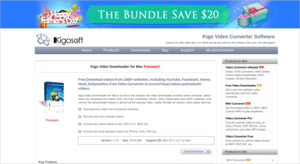 kigo video downloader for mac