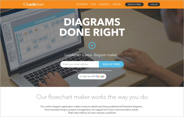 18 best free flowchart software download for windows mac android lucidchart most popular software ccuart Gallery