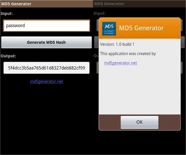 md5 generator