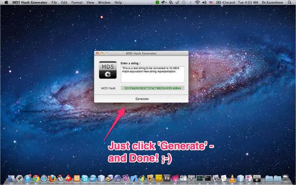 md5 hash generator for mac