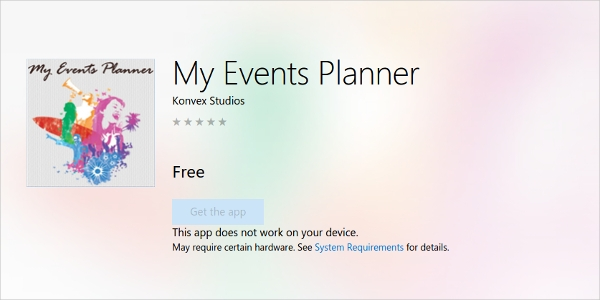 my events planner