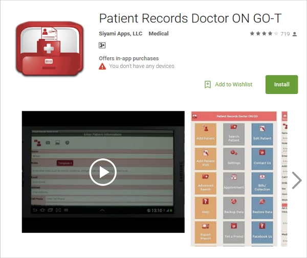 patient records doctor on go