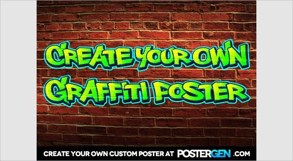 poster graffiti creator
