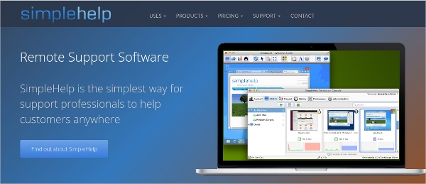simplehelp remote support software