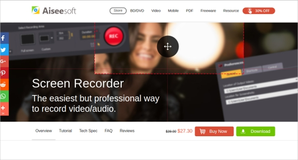 aieesoft screen recorder