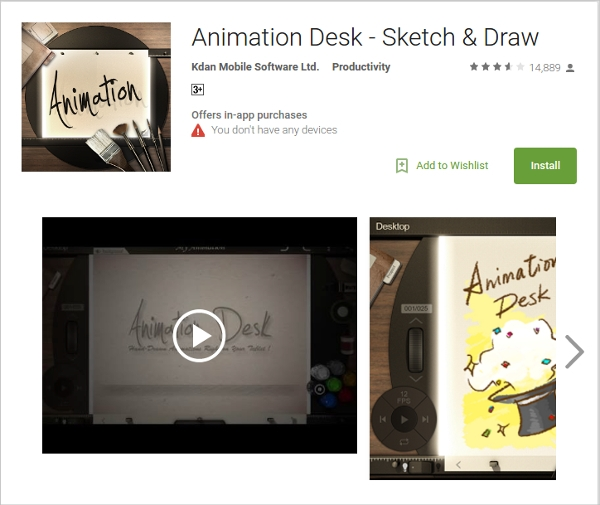 animation desk sketch draw