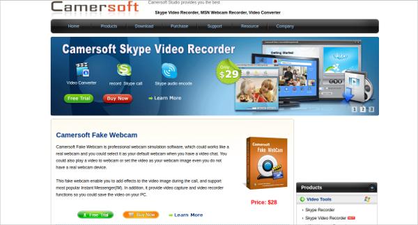 camersoft fake webcam