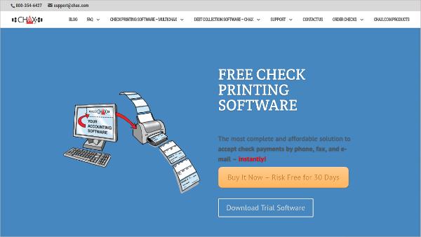 chax check printing software