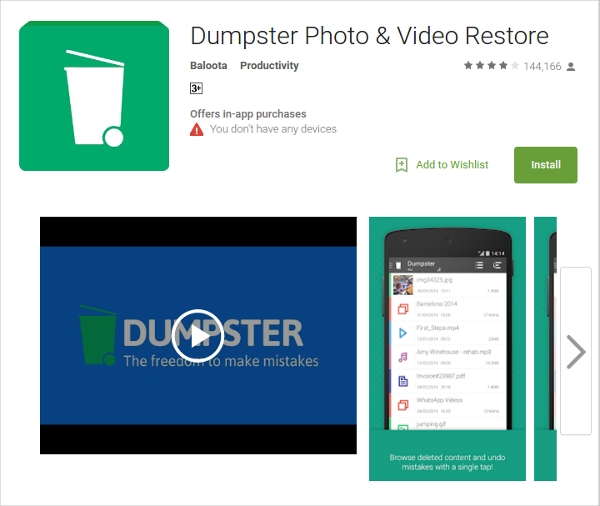 dumpster photo video restore