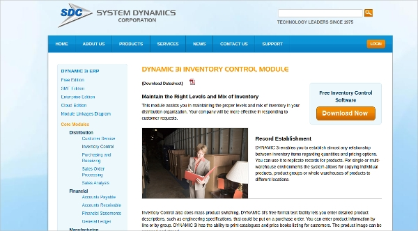 dynamic 3i inventory control software