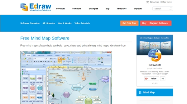 edraw free mind map software