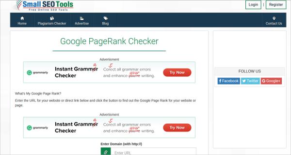 google page rank checker