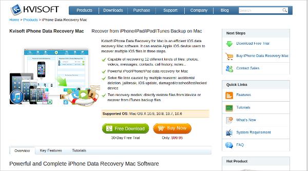 kvisoft iphone data recovery