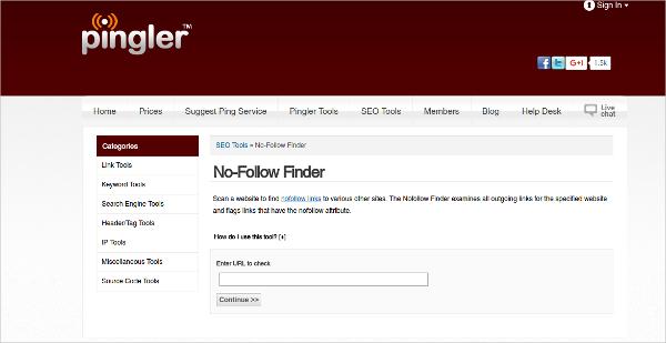 pingler no follow finder