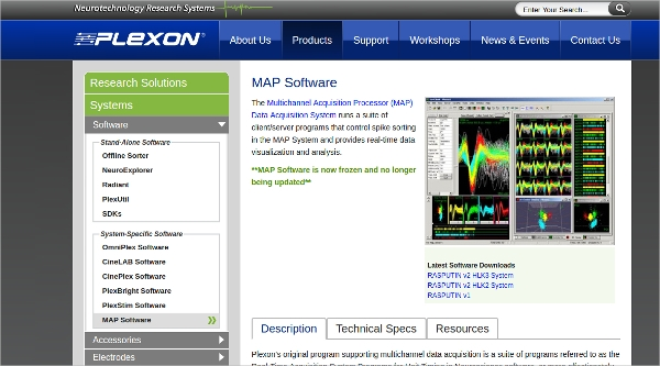 plexon map software