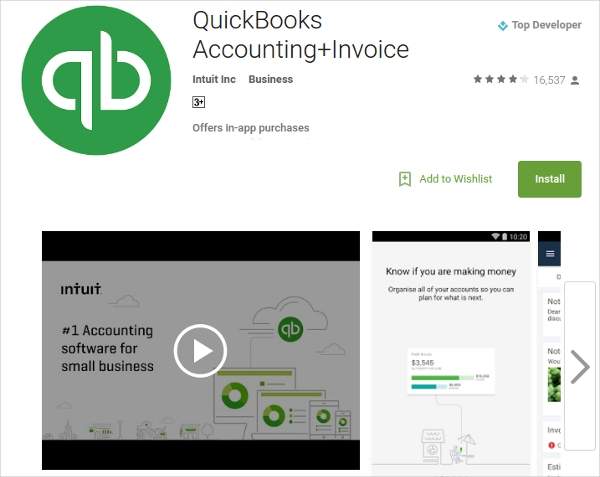 quickbooks accountinginvoice