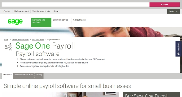 sage one payroll software
