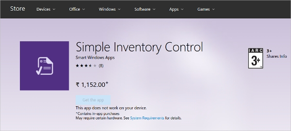 simple inventory control