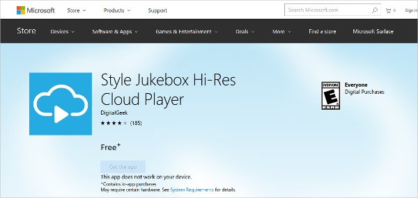 style jukebox hi res cloud player