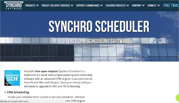 synchro scheduler