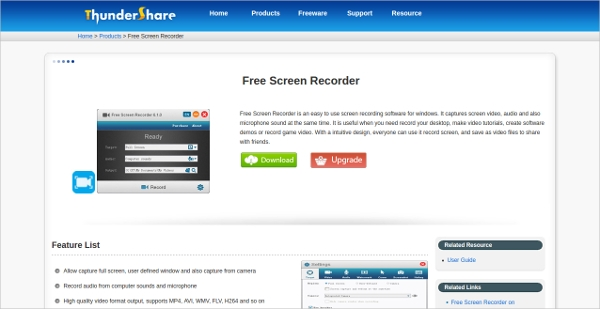 thundershare free screen recorder
