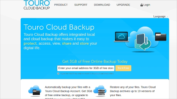 touro cloud backup