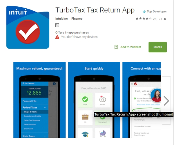 turbotax tax return
