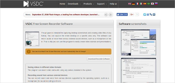 vsdc free screen recorder software