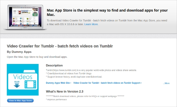 video crawler for tumblr