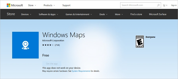 windows maps