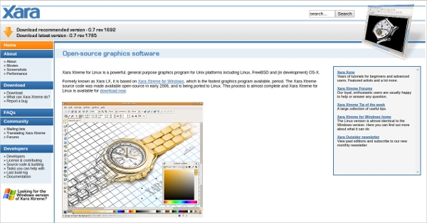 xara opensource graphics software