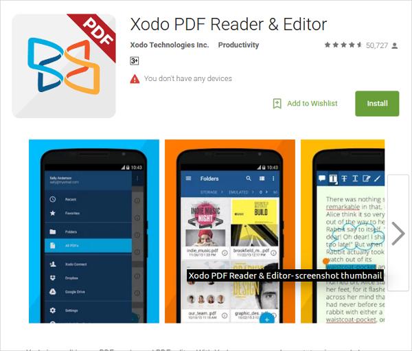 xodo pdf reader editor