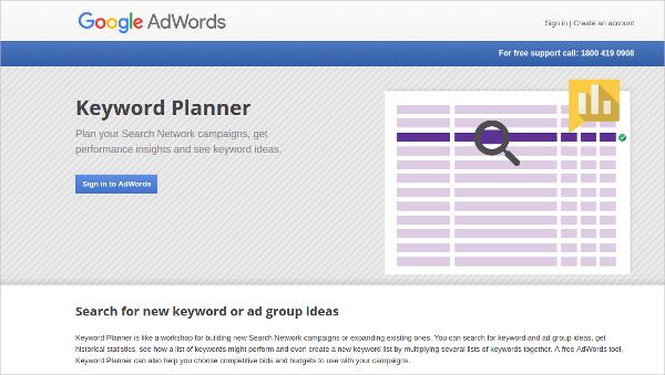 keyword planner2