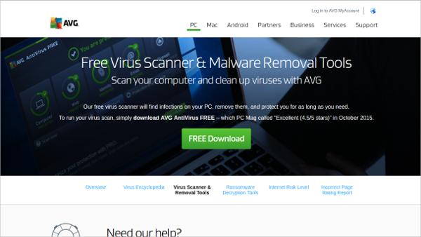 avg free virus scanner
