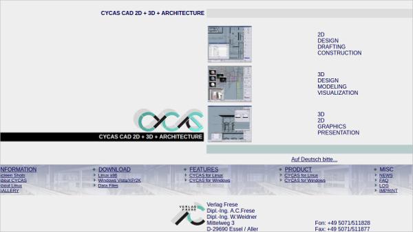 cycas cad 2d 3d architecture