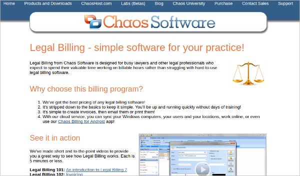 chaos legal billing