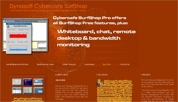 cybercafe surfshop
